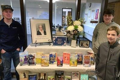 Agnes Jayne Memorial 2020 Display with Great-Grandsons