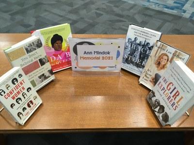 Books in this year's Ann Mindok Memorial