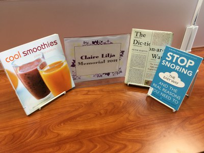 Books in this year's Claire Lilja Memorial