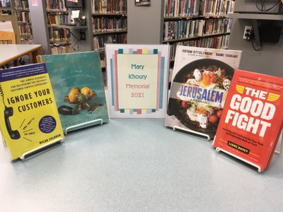 Books in this year's Mary Khoury Memorial
