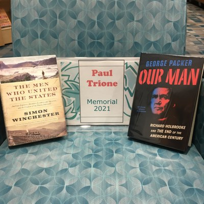 Books in this year's Paul Trione memorial